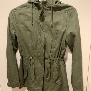 Green utility jacket small